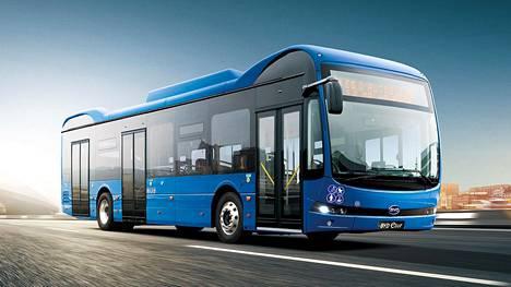 Tämännäköiset kiinalaiset sähköbussit kuljettavat pian suomalaisia.