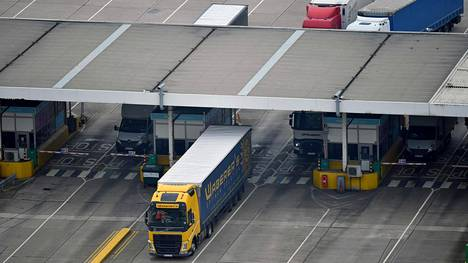 Tarkastusasema Doverin satamassa 12. kesäkuuta 2020.