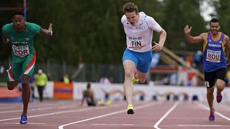 Samuel Purola oli vauhdissa 200 metrillä Vaasassa.
