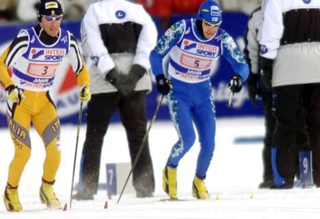 Janne Immonen hiihti Lahdessa 4 x 10 kilometrin viestin voittaneessa joukkueessa.