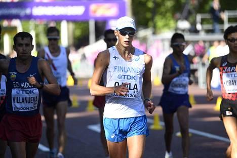 Aleksi Ojala sijoittui Lontoon MM-kisojen 50 kilometrillä 14:nneksi.