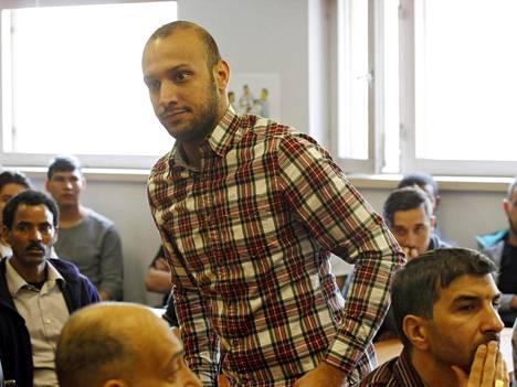 Matkailualalle haluava Al-Rubei Musaabayad keskiviikon yrittäjyystilaisuudessa, joka järjestettiin miesten vastaanottokeskuksessa Vantaalla.