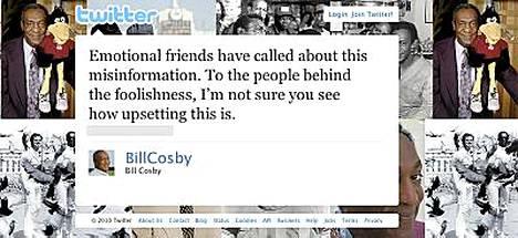 Bill Gosbyn Twitter-merkinnät.