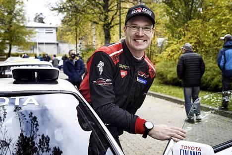 Jari-Matti Latvala voitti viime viikonloppuna Askolan Granit -rallin isänsä Jari Latvalan Toyotalla.