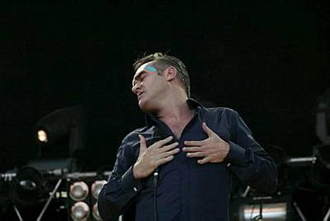 Terävistä mielipiteistään tunnettu Morrissey esiintyi Ruisrockissa Turussa kaksi vuotta sitten.
