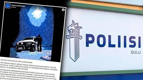 Oulun poliisilaitos kertoo oudosta tapahtumasarjasta Facebookissa.