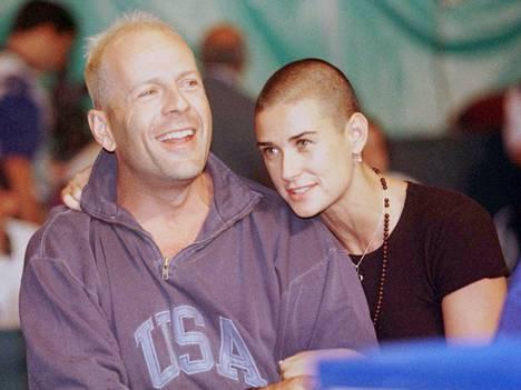 Bruce Willis ja Demi Moore kuvattuna vuonna 1997.