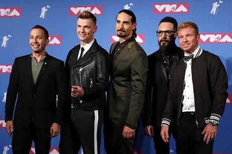 ...ja Backstreet Boys vuonna 2018.