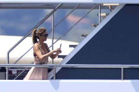 Myös Stallonen vaimo Jennifer Flavin vietti aikaa perheensä kanssa.
