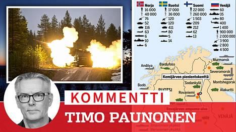 Raskas raketinheitin tulittaa maavoimien harjoituksessa Rovajärven ampuma-alueella Lapissa, lähellä Kemijärveä.