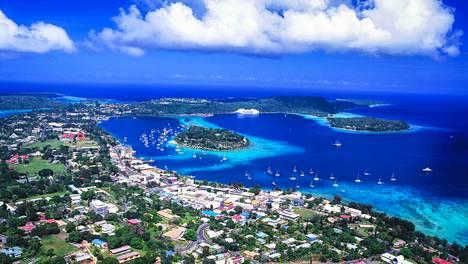 Ilmakuvaa Vanuatun pääkaupungista Port Vilasta.