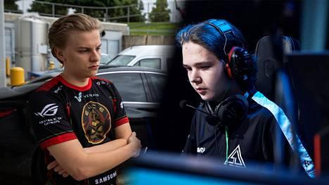 """Aleksi """"Aleksib"""" Virolaisen (vasemmalla) vireillä oleva projekti koki huhujen mukaan kovan kolauksen: Elias """"Jamppi"""" Olkkonen, 18, ei enää kuulu tiimiin."""