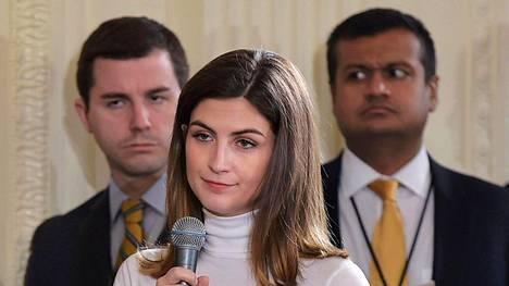 CNN:n toimittajalla Kaitlan Collinsilla ei ollut asiaa Valkoisen talon puutarhaan.
