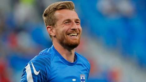 Lukas Hradecky myhäili Suomen maalinsuulla kesän EM-kisoissa Pietarissa.