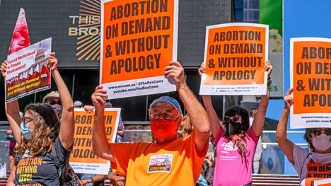 Texasin aborttilaki on raivostuttanut ympäri Yhdysvaltoja. Kuva New Yorkista.