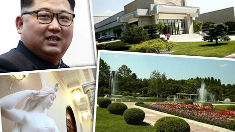 Venäläistoimittajat pääsivät ulkoministeri Sergei Lavrovin vanavedessä tutustumaan Kim Jong-unin hulppeaan palatsiin, joka sijaitsee salaisessa paikassa Pjongjangin lähellä.