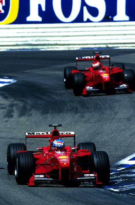 Parhaimmillaan Mika Salo oli Eddie Irvineä nopeampi Ferrarin ratissa.