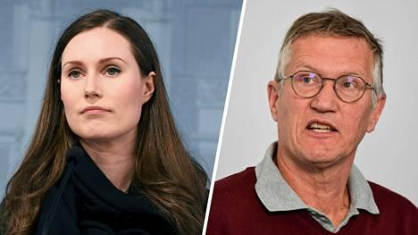 Ruotsin valtionepidemiologi Anders Tegnell (oik.) epäilee Suomen koronastrategiaa Finacial Timesin haastattelussa.