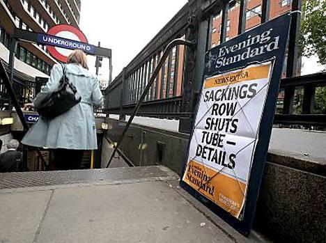 Lontoon metron työntekijät aloittivat eilisiltana kahden vuorokauden seisauksen.