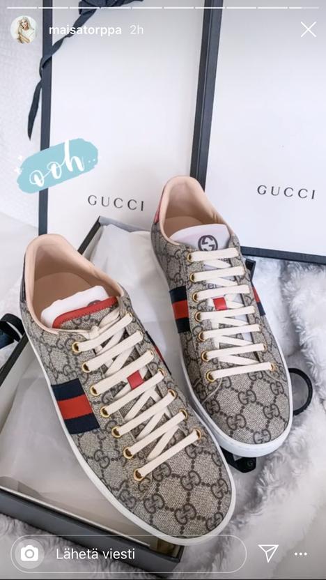 Guccin paketista paljastuivat upouudet kengät.