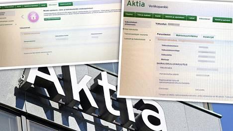 Helsinkiläisnainen sai Aktian verkkopankissa näkyviin vieraan ihmisen sairauskuluvakuutuksen tiedot.