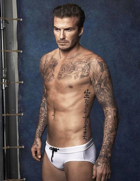 """Tältä näyttävät """"munauikkarit"""" David Beckhamin päällä."""