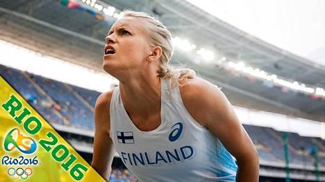 Minna Nikkanen jäi niukasti seiväsfinaalin ulkopuolelle.