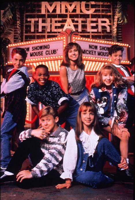 Britneyn (edessä oikealla) ura alkoi Mickey Mouse Clubista 12-vuotiaana.