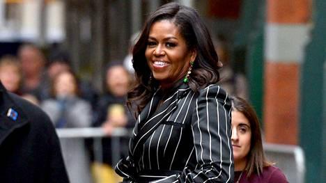 Michelle Obama kuvattiin marraskuun lopussa New Yorkissa.