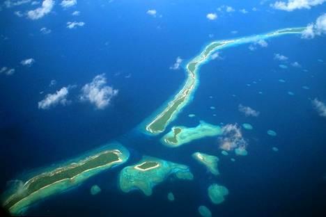 Yhdysvalloilla on yhä tukikohta kuvassa olevalla Kwajalein atollilla.