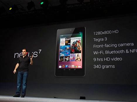 Hugo Barra julkisti Googlen Nexus 7 -taulutietokoneen vuonna 2012.
