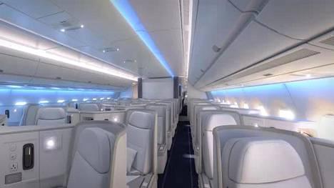 Finnair A350 matkustamo