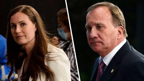 Suomi ja Ruotsi ovat perinteisesti olleet eri leireissä EU:n budjettineuvotteluissa. Nyt käydyissä neuvotteluissa maat huomasivat kuitenkin ajavansa samoja tavoitteita. Kuvassa Suomen pääministeri Sanna Marin (sd) ja Ruotsin pääministeri Stefan Löfven.