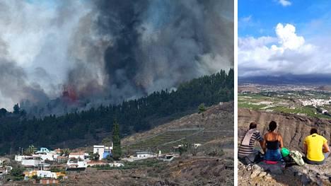 Moni on tänään kerääntynyt katsomaan tulivuorenpurkausta La Palmassa.