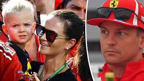 """Kimi Räikkönen tuskailee Mintun intoa Robin-pojan harrastukseen – """"Pelkään, että löydän itseni radoilta uudelleen"""""""