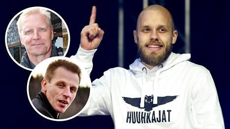 Arto Bryggare (ylh. vas.), Kari-Pekka Kyrö ja Teemu Pukki.
