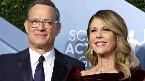 Tom Hanks ja hänen puolisonsa Rita Wilson.