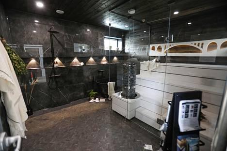 Talo Koreassa näyttävät saunatilat. Sauna onkin oleellinen osa suomalaista unelmaa.