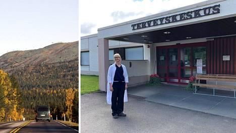 Inarin johtavan lääkärin sijainen Jenni Tikkanen muistuttaa pitkistä välimatkoista Lapissa.