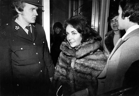 Elizabeth Taylor vieraili Suomessa 1975.