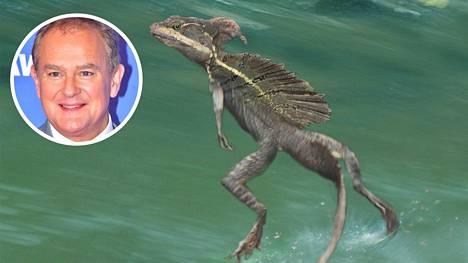 Jeesusliskoksi kutsuttu eläin etenee vauhdikkaasti veden pinnalla. Kertojaäänenä tv-ohjelmassa on Hugh Bonneville.