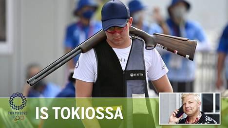 Nelossija skeetin finaalissa oli kova suoritus olympiadebytantti Eetu Kallioiselta, mutta nuorukaista itseään mitalin karkaaminen sapetti raskaasti.