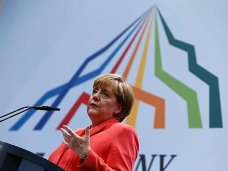 Angela Merkel G7-maiden kokouksessa aiemmin tässä kuussa.
