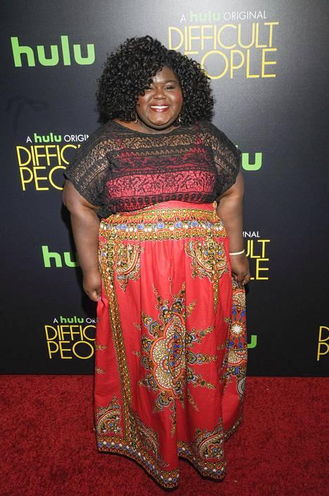 Sidibe kuvattiin punaisella matolla heinäkuussa ja näyttelijä näytti suorastaan hehkuvan.