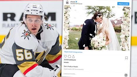 Erik Haula kertoi häistään Instagramissa.