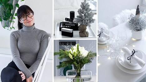 Pieniä yksityiskohtia ja tunnelmallinen valaistus. Miia Salmi välttelee tarpeettomia tavaroita, ja joulu syntyy tuoksuista ja kasveista.