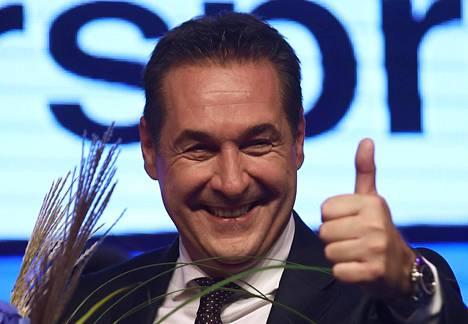 Laitaoikeistolaisen FPÖ-puolueen kärkiehdokas Heinz-Christian Strache.