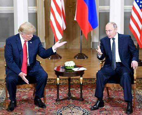 Trump ja Putin Helsingissä.