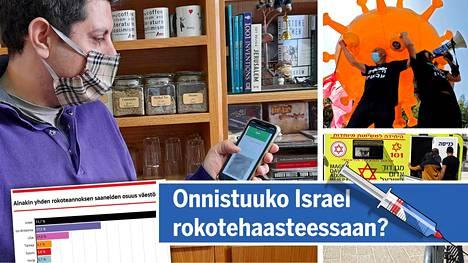 Mahmoud Muna sai keskiviikkona ladattua puhelimeensa Israelin terveysministeriön verkkosivuilta vihreän passin.