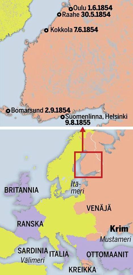Krimin sodassa Venäjää vastaan taistelivat ottomaanit, Britannia, Ranska ja Sardinia. Kiista Betlehemin pyhistä paikoista saattoi pohjalaiset talonpojat sotatoimiin.